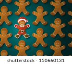 gingerbread man is decorated in ... | Shutterstock .eps vector #150660131