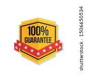 100  guarantee shield label... | Shutterstock .eps vector #1506650534
