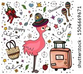 Journey. Flamingo Wearing A...