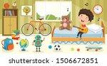 children having fun in a room   Shutterstock .eps vector #1506672851