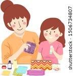 illustration of a mother...   Shutterstock .eps vector #1506734807