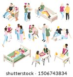 different couples isometric... | Shutterstock .eps vector #1506743834
