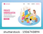 kindergarten isometric web site ...