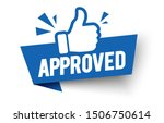 vector illustration approved... | Shutterstock .eps vector #1506750614