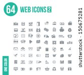 64 web icons   set 2 | Shutterstock .eps vector #150675281