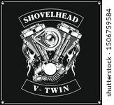 Shovelhead Vector. V Twin...