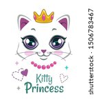 pretty kitten print. beautiful... | Shutterstock .eps vector #1506783467