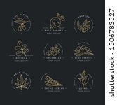 superfoods line vector icons.... | Shutterstock .eps vector #1506783527
