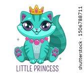 funny blue kitten wearing the... | Shutterstock .eps vector #1506788711