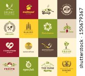 set of icons for food and drink ...
