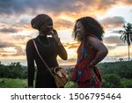 Two Young Black Women Having A...