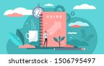 guide vector illustration. flat ... | Shutterstock .eps vector #1506795497