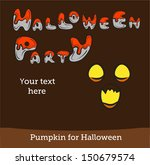 halloween vector card or... | Shutterstock .eps vector #150679574