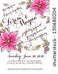 wedding invitation card | Shutterstock .eps vector #150680204