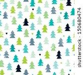 seamless scandinavian forest... | Shutterstock .eps vector #150680474