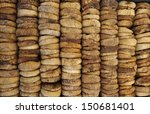 Dried figs at a Franch farmers market - stock photo