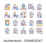 law and justice line color... | Shutterstock .eps vector #1506823247