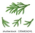 set of coniferous christmas...   Shutterstock .eps vector #1506826241
