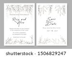 wedding invitations save the... | Shutterstock .eps vector #1506829247