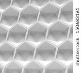 white hexagon seamless | Shutterstock . vector #150683165
