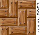 seamless wooden panel door... | Shutterstock . vector #1506845921