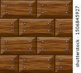 seamless wooden panel door... | Shutterstock . vector #1506845927