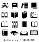 16 set of book icon vector ... | Shutterstock .eps vector #1506888341