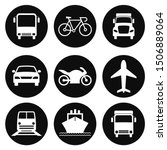 transportation icons collection.... | Shutterstock .eps vector #1506889064