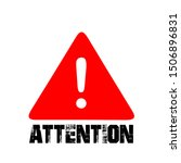 isolated attention sign and... | Shutterstock .eps vector #1506896831
