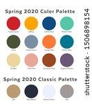spring   summer 2020 palette... | Shutterstock .eps vector #1506898154