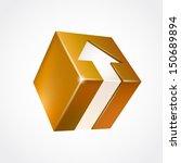 vector box with arrow. yellow | Shutterstock .eps vector #150689894
