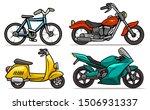 Cartoon Blue Bicycle  Retro Re...