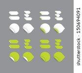 realistic vector stickers  ... | Shutterstock .eps vector #150694091
