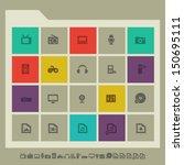 modern flat design multimedia...
