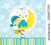 arte,bebé,fondo,cama,azul,chico,carrusel,dibujos animados,niño,infancia,acogedor,creativa,lindo,tarjeta de felicitación,ilustración