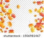 maple leaves vector  autumn... | Shutterstock .eps vector #1506981467