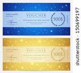gift certificate  voucher ... | Shutterstock .eps vector #150699197
