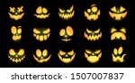 scary and funny glowing faces... | Shutterstock .eps vector #1507007837
