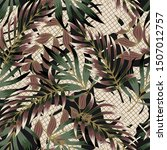 tropical seamless pattern with...   Shutterstock .eps vector #1507012757