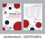 modern geometric business two... | Shutterstock .eps vector #1507012841