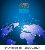 world technology mesh network ... | Shutterstock .eps vector #150702824