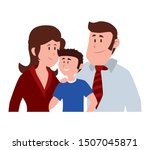 parents couple with son avatar... | Shutterstock .eps vector #1507045871