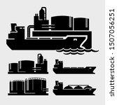 oil storage tanks  tanker ship...   Shutterstock .eps vector #1507056251