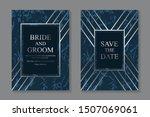 set of modern geometric luxury... | Shutterstock .eps vector #1507069061