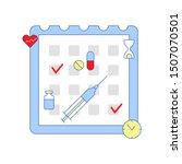 schedule of treatment... | Shutterstock .eps vector #1507070501