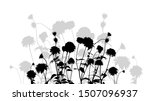 silhouette of flowers. vector...   Shutterstock .eps vector #1507096937