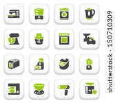 home appliances icons. green... | Shutterstock .eps vector #150710309