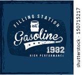 filling station over blue... | Shutterstock .eps vector #150715217