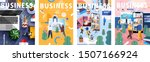 big business set. flat cartoon... | Shutterstock .eps vector #1507166924