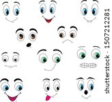 eyes of different colors... | Shutterstock .eps vector #1507212281
